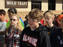 high school students touring Mold Craft mold manufacturing shop